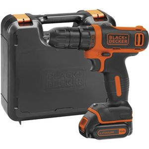 10,8 V BLACK+DECKER BDCDD12B-QW Perceuse-Visseuse sans fil 26 Nm 1,5 Ah 1 batterie