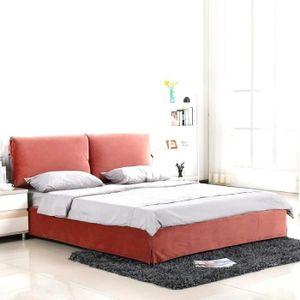 STRUCTURE DE LIT Lit design velours Mist - Couleurs - Rose, Tailles