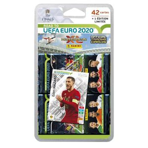 CARTE A COLLECTIONNER ROAD TO UEFA EURO 2020 TCG Blister 7 pochettes + 1