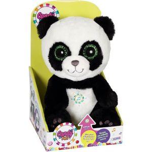 PELUCHE CANDY PETS Peluche Panda lumineux et sonore