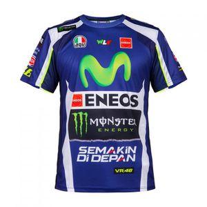 VR46 Valentino Rossi Yamaha Racing T-Shirt pour Enfant Noir//Bleu