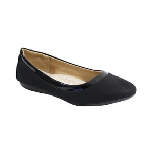 BALLERINE By Shoes Ballerine Plate Style Velours - Femme