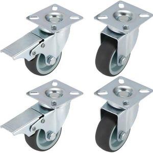 ROUE - ROULETTE Lot de 4 Roulettes Pivotantes Ultra-résistantes av