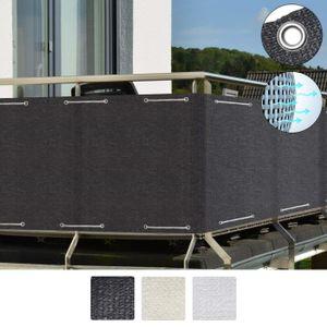 CLÔTURE - GRILLAGE Sol Royal Brise vue pour balcon 500x90cm Anthracit