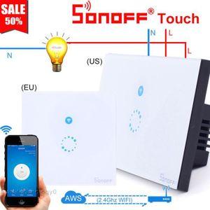 COMMANDE ECLAIRAGE Sonoff Touch Interrupteur Lampe sans fil Tactile I