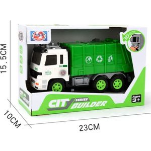 CAMION ENFANT Camion Poubelle Recyclage Voiture Enfant Vert Maqu