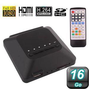 LECTEUR MULTIMÉDIA Passerelle multimédia FULL HD 1080P HDMI 16Go