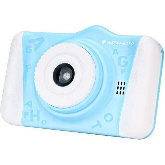 AGFA PHOTO Realikids Cam 2 - Appareil Photo Numérique pour Enfant (Photo, Vidéo, Écran LCD 3.5', Filtres photos) - Bleu