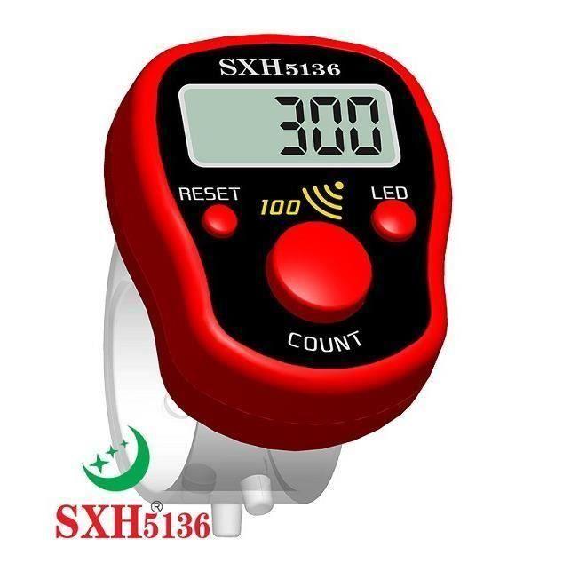 NEUFU Loskii SXH-5136 Mini Compteur de rangée électronique d'affichage LCD Rouge Aa50403