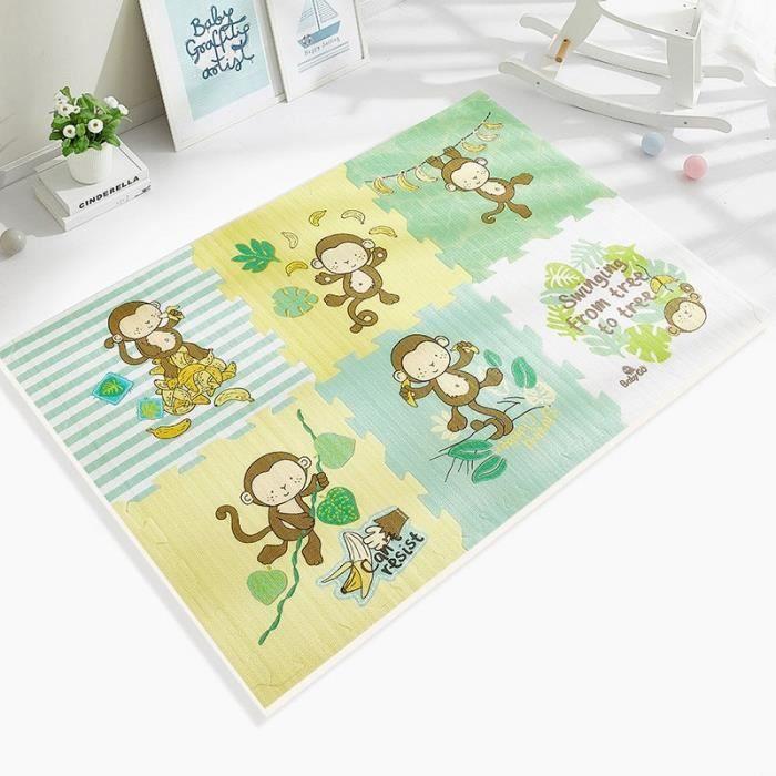 Tapis d'éveil,BabyGo PE tapis de jeu en mousse bébé épaissi insipide ramper Pad enfants enfants salon dessin animé - Type D