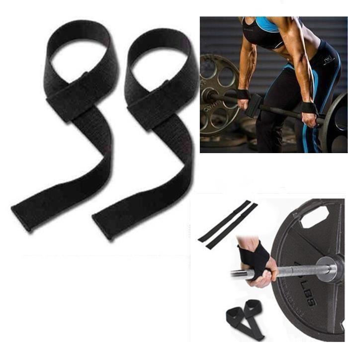 2x Gym Poids Entraînement Haltère haltérophilie poignet bande appoint de Rallye