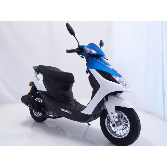 VASTRO Scooter 50 STREET-X - 50cc - Blanc et bleu