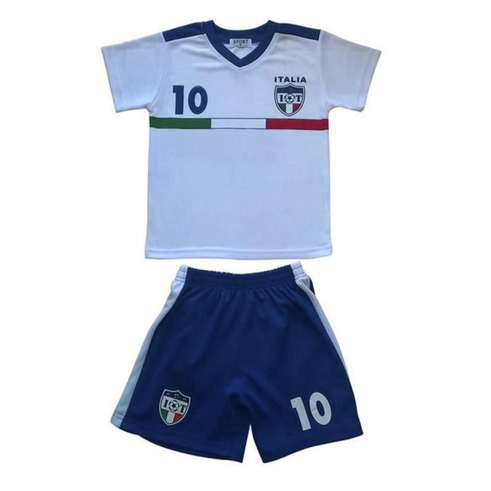 Ensemble De Vetements De Football - Tenue De Football - NPZ - Ensemble short et maillot de foot enfant Italie blanc Taille de 4 à