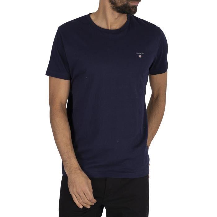 Gant Le t-shirt original, Bleu, Homme