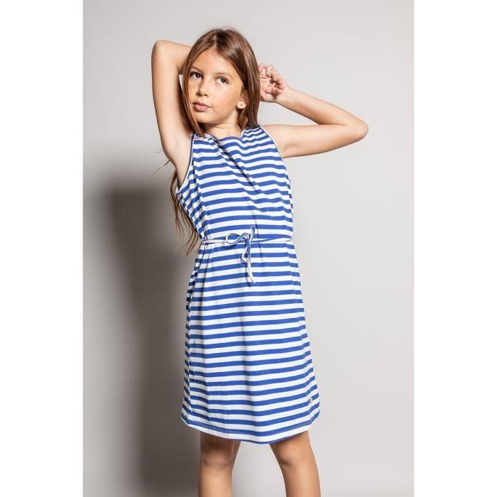 DEELUXE Robe marinière courte STRIPSTIME Blue Stripes