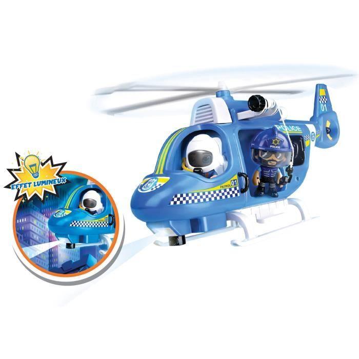Pinypon Action - L'hélicoptère de police - 1 figurine incluse