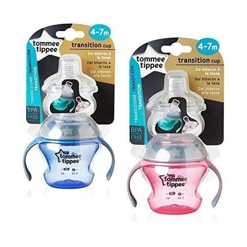 TOMMEE TIPPEE Tasse de Transition coloris aléatoires bleu et rose
