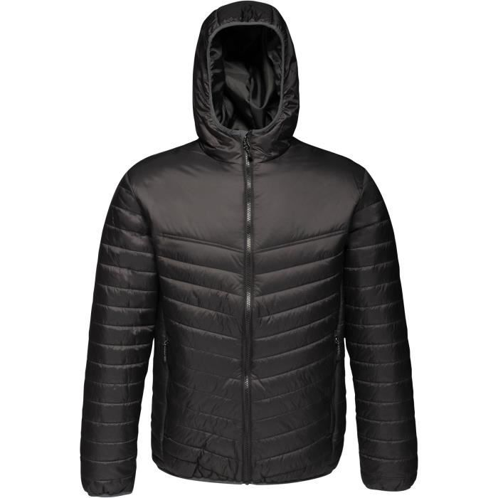 REGATTA Doudoune avec capuche, déperlante, isolation thermique warmloft 140g/m² - Noir