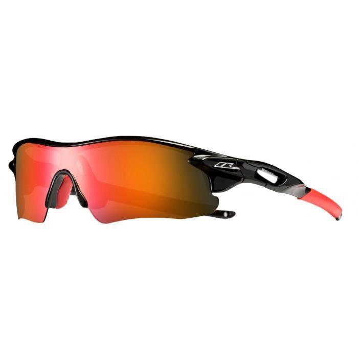 lunettes de soleil sport Slammedunisexe noir/rouge