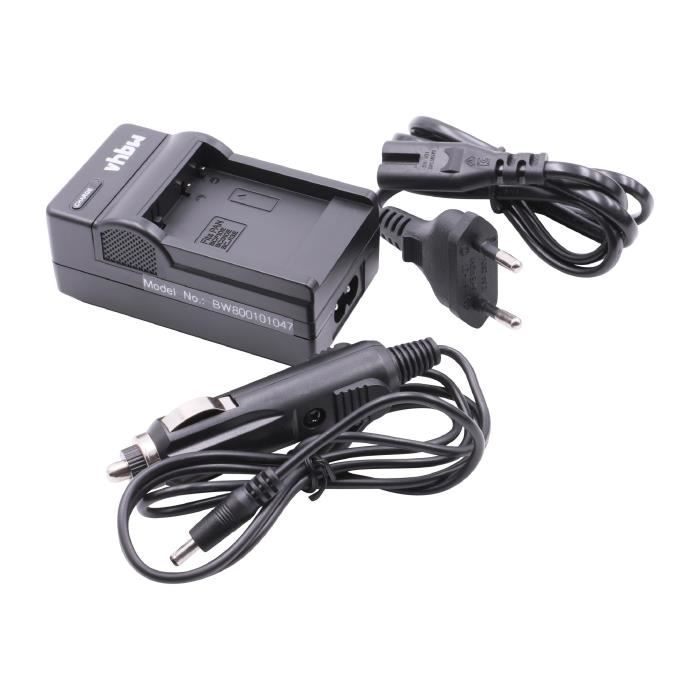 vhbw Chargeur de batterie compatible avec Panasonic Lumix DMC-TZ22, DMC-TZ25, DMC-TZ30, DMC-TZ31 batterie appareil photo digital,