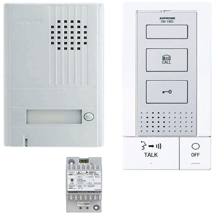 SCS SEN4137091 Kit portier audio fa/çade m/étallique Pose encastr/ée 2 Fils int/égral