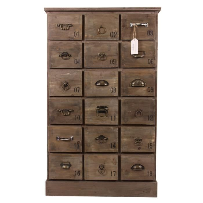 meuble semainier chiffonnier grainetier bois 18 achat vente chiffonnier semainier meuble. Black Bedroom Furniture Sets. Home Design Ideas