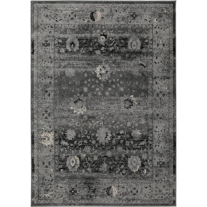tapis poil ras vintage velvet anthracite 200x290 cm tapis poil court design moderne 60002808. Black Bedroom Furniture Sets. Home Design Ideas