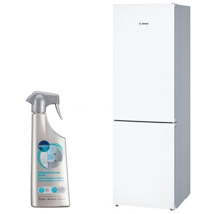 RÉFRIGÉRATEUR CLASSIQUE BOSCH Réfrigérateur frigo combiné blanc 324L A++ F