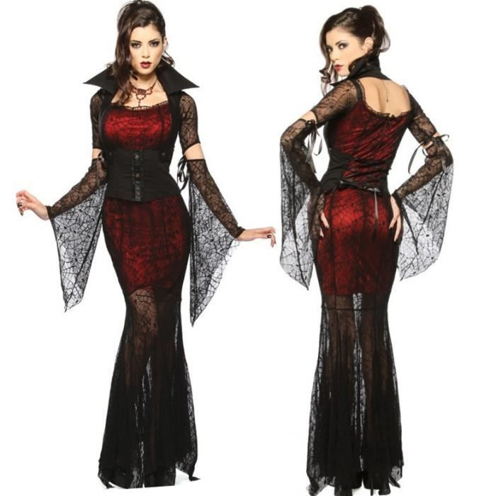 d guisement femme vampire halloween robe de f te achat. Black Bedroom Furniture Sets. Home Design Ideas