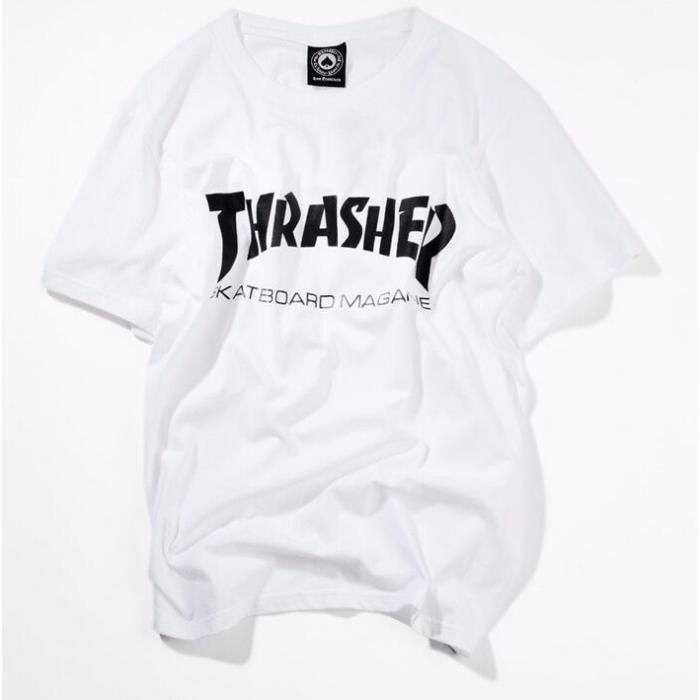 t shirt thrasher achat vente t shirt thrasher pas cher black friday le 24 11 cdiscount. Black Bedroom Furniture Sets. Home Design Ideas