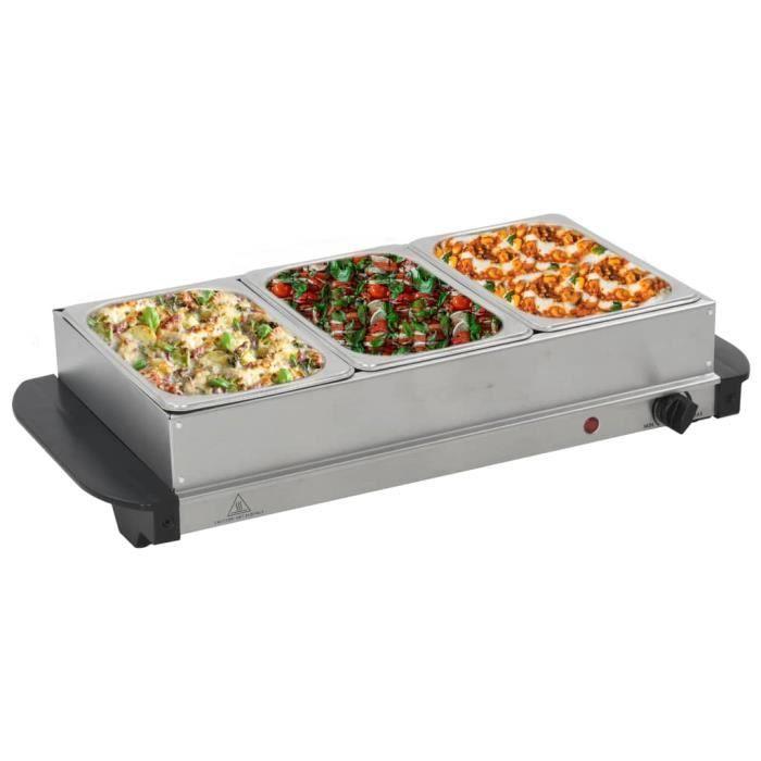 BUFFET DE CUISINE Serveur buffet Acier inoxydable 200 W 3x1,5 L BUFF