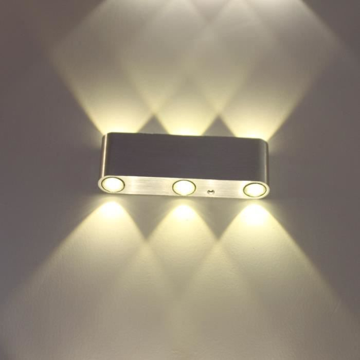 Lightess 6w applique murale int rieur led moderne en for Eclairage applique interieur