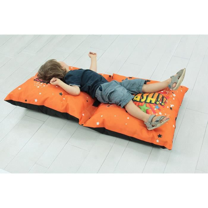 Double coussin super heros 160x20cm orange achat for Decoration maison orange