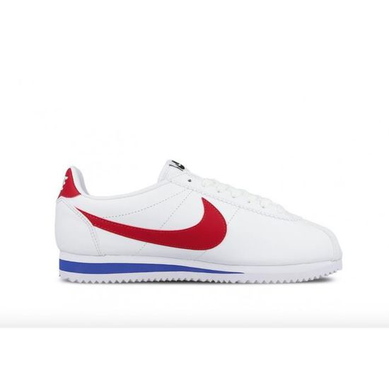 best service 409b0 cd39d Baskets Nike Wms Classic Cortez Leather - 807471103 Blanc Blanc - Achat    Vente basket - Cdiscount