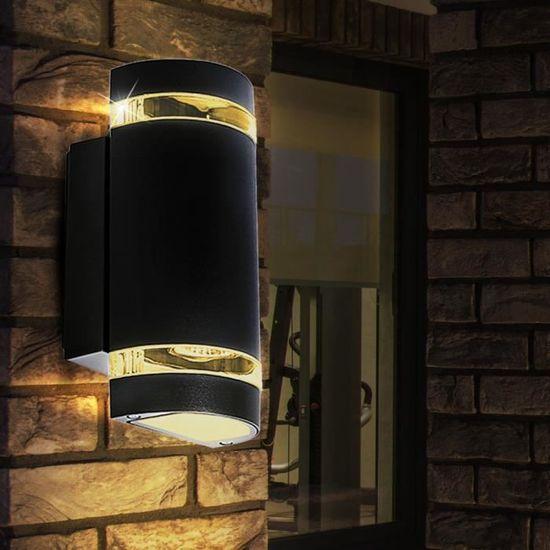 Noble salon chambre Doré Mur éclairage Couloir Lampes Up Down Projecteur