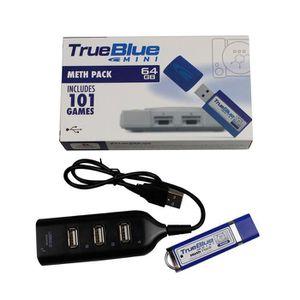 ADAPTATEUR MANETTE True Blue Mini Pack Meth 64 Go Intégré 101 jeux po