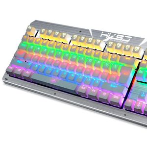 CLAVIER D'ORDINATEUR 2017 HXSJ 2600 LED rétro-éclairage USB ergonomique