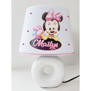 LAMPE A POSER LAMPE DE CHEVET PIED NOIR MINNIE BEBE PERSONNALISA