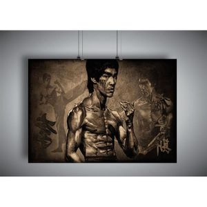 AFFICHE - POSTER Poster BRUCE LEE ART OF WING CHUN 02 Wall Art  - A