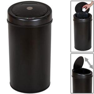 POUBELLE - CORBEILLE Poubelle automatique 50 litres noir pratique cuisi