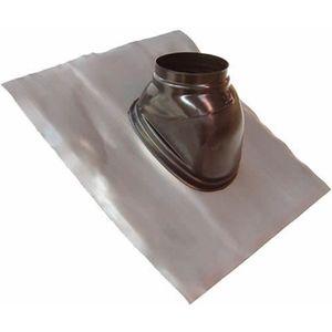 CHEMINÉE Solin plomb pour pente de 25 a 45° noir avec rotul