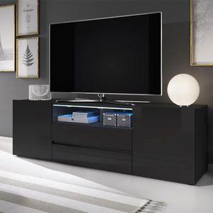 MEUBLE TV Meuble TV / Meuble de salon - BROS - 137 cm - noir