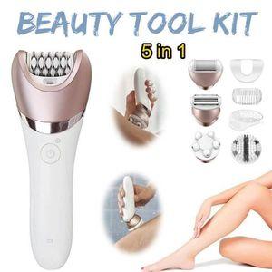 ÉPILATEUR ÉLECTRIQUE TEMPSA 5 en 1 Multifonction Facial Nettoyage Kit É