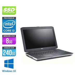 ORDINATEUR PORTABLE Pc portable Dell E5530 - i3 - 8Go - 240Go SSD - 15
