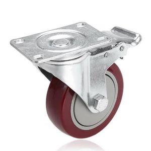 """4-Pack 100MM//4/"""" Heavy Duty Fonte Pivotant Plaque Supérieure roulettes"""