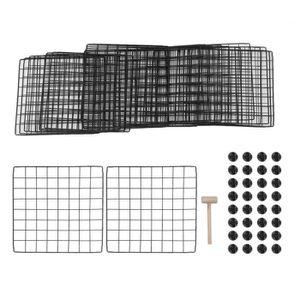 ARMOIRE DE BUREAU Armoire de Rangement 8 Cubes en Treillis Metalliqu