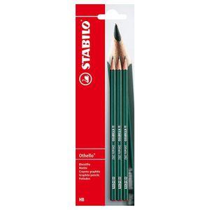 CRAYON GRAPHITE STABILO - Blister de 3 Crayons Hexagonal Othello -