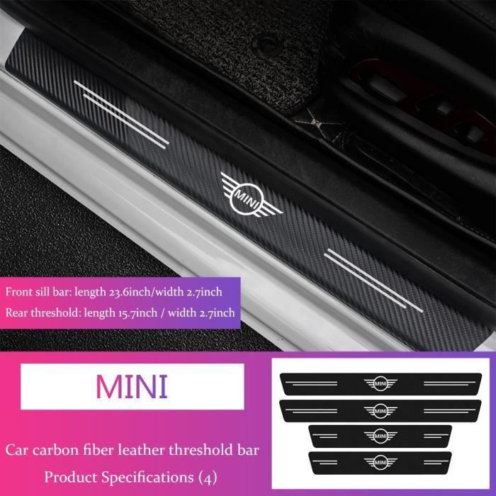 Autocollants de seuil de porte de voiture, 4 pièces, pour Mini Cooper S R50 R52 R53 R55 R55 R55 R56 R57 R58 R59 R60, [C87260E]