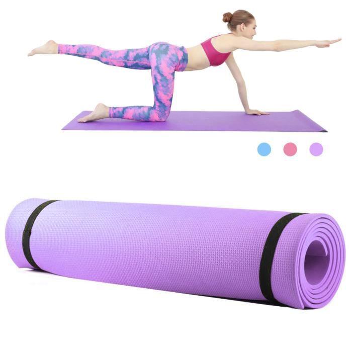 6mm d'épaisseur EVA mousse Yoga tapis antidérapant Yoga Pilates exercice Fitness tapis 68X24 pouces-87