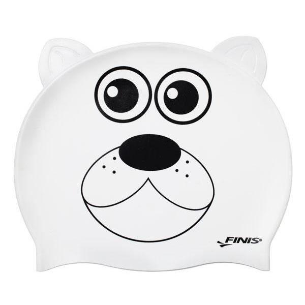 Bonnets de bain enfant Finis Animal Heads Polar Cap